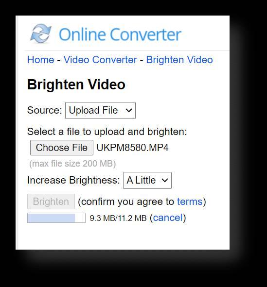 How to Adjust Video Brightness on Onlineconverter.com