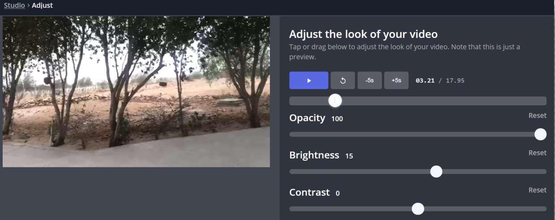 How to Adjust Video Brightness on Kapwing.com