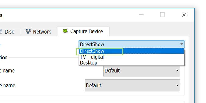 capture mode in directshow