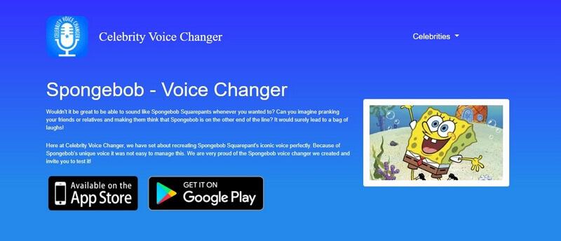 celebrity voice changer for spongebob