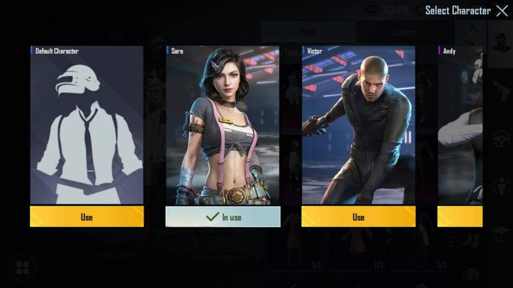 change a character voice in the inventory