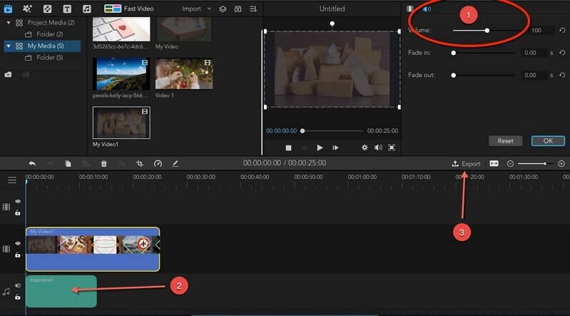 add background music for birthday slideshow in imyfone filme