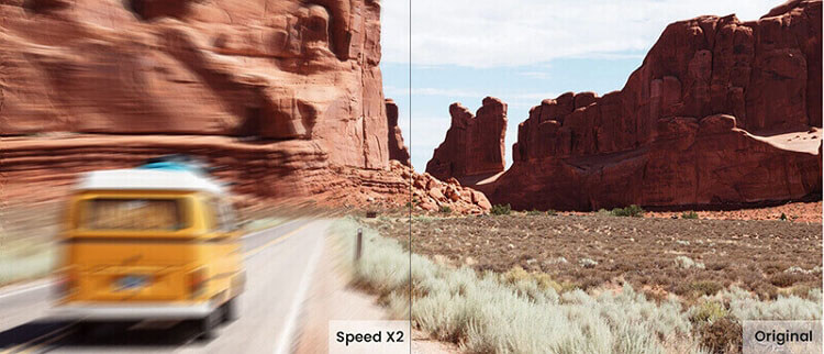 change video speed using filme