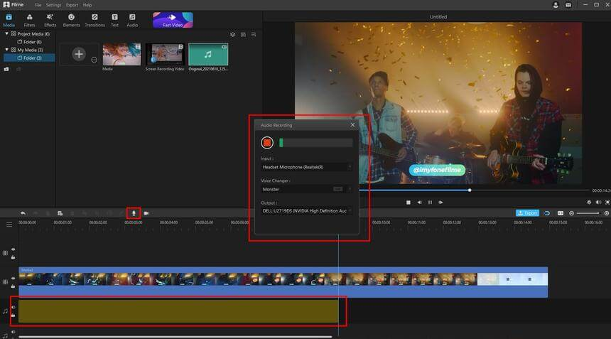 change voice in live recording