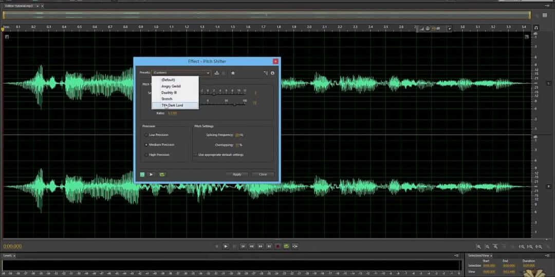 change your audio voice in adobe audition