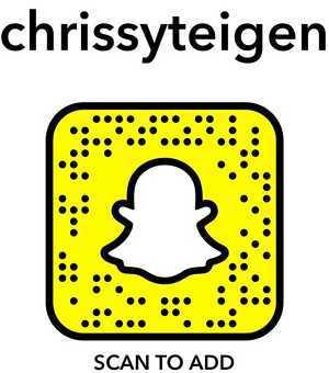 chrissy teigen snapcode