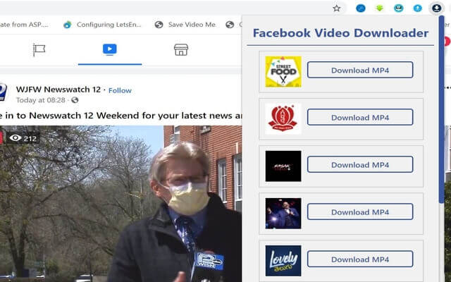 copy video from facebook with chrome extension fbdown