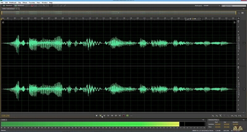 click on the multitrack in adobe audition