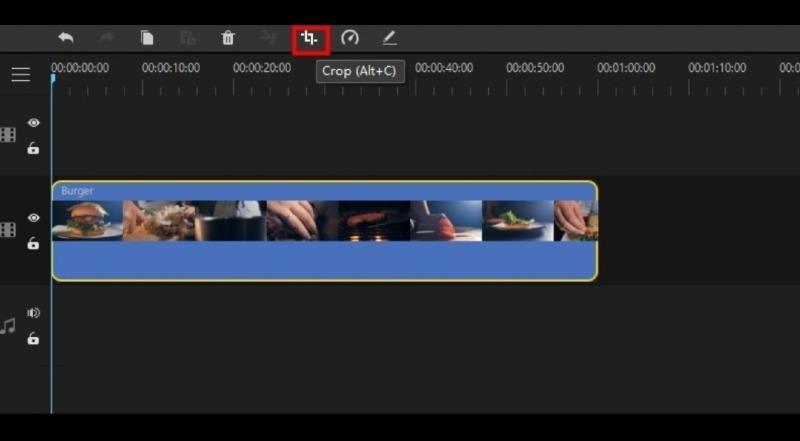 click the crop icon