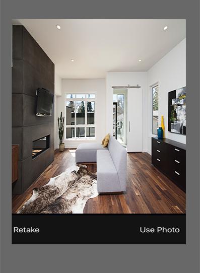 click use photo option on iphone