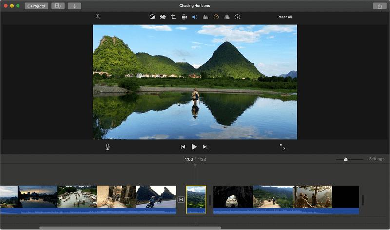 iMovie (Mac) split video