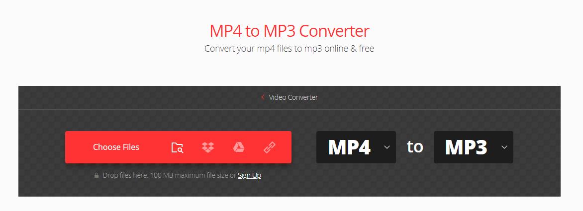 convertio mp4 to mp3