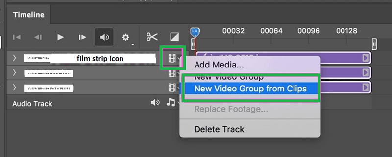 creating a video group for image layers