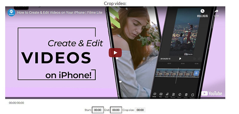 how to crop video using ytcropper