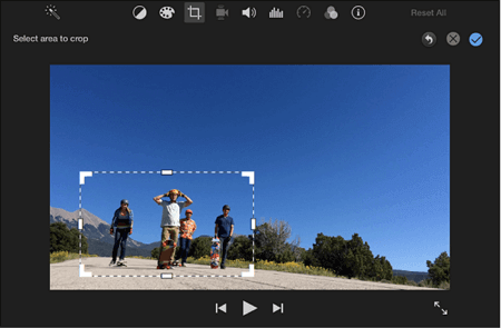 crop in iMovie