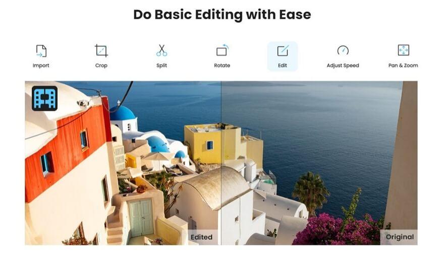 do basic editing in imyfone filme