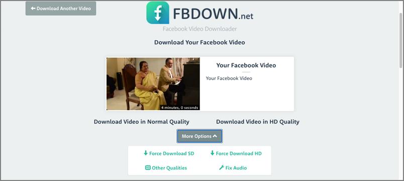 facebook video download online free on fbdown