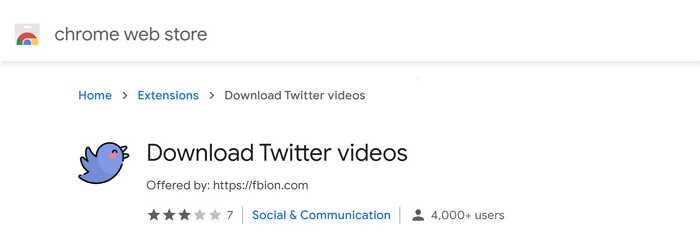 download twitter videos