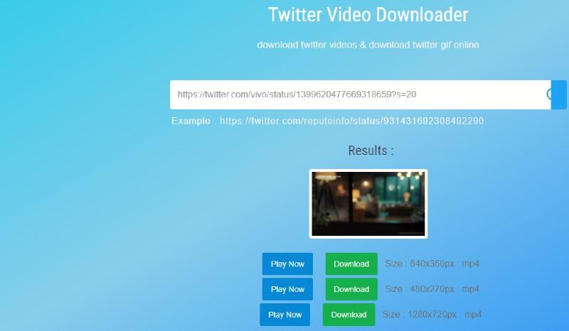 downloader for twitter save video
