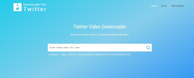downloader for twitter welcome page