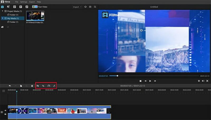 drag a video file