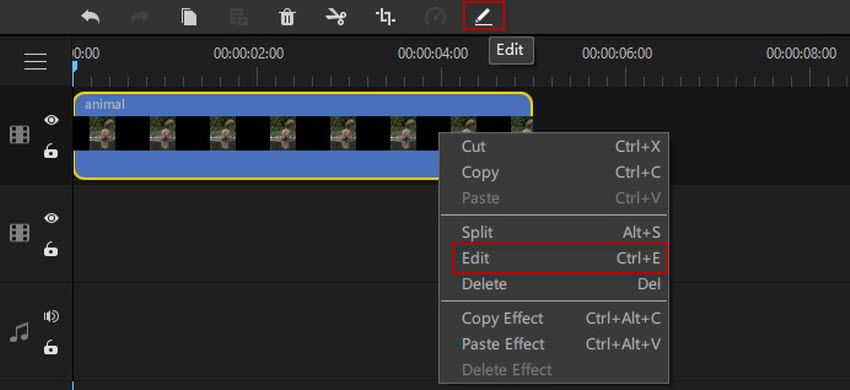 how to add a gif to video editor and edit