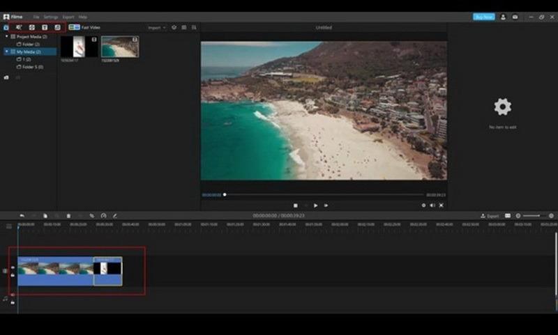 edit a video using iMyFone Filme step 2