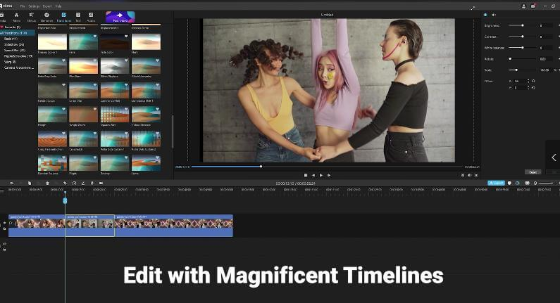 edit with magnificent timelines in filme