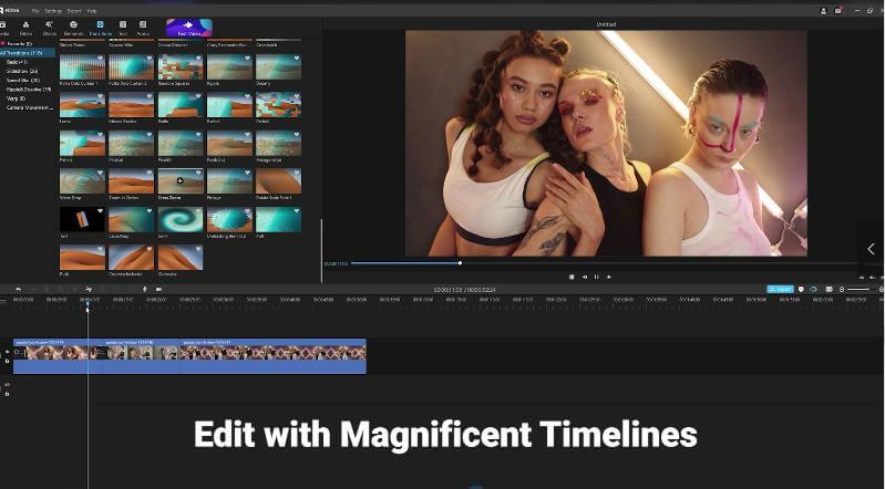 edit with magnificent timelines in filme2