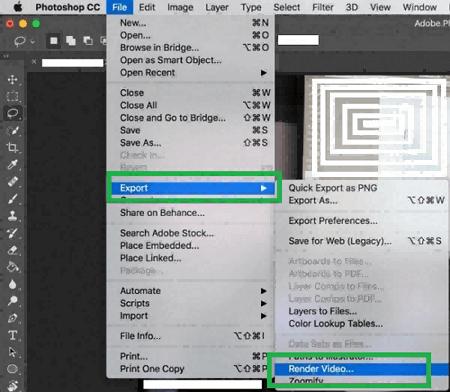 Export and render slideshow video