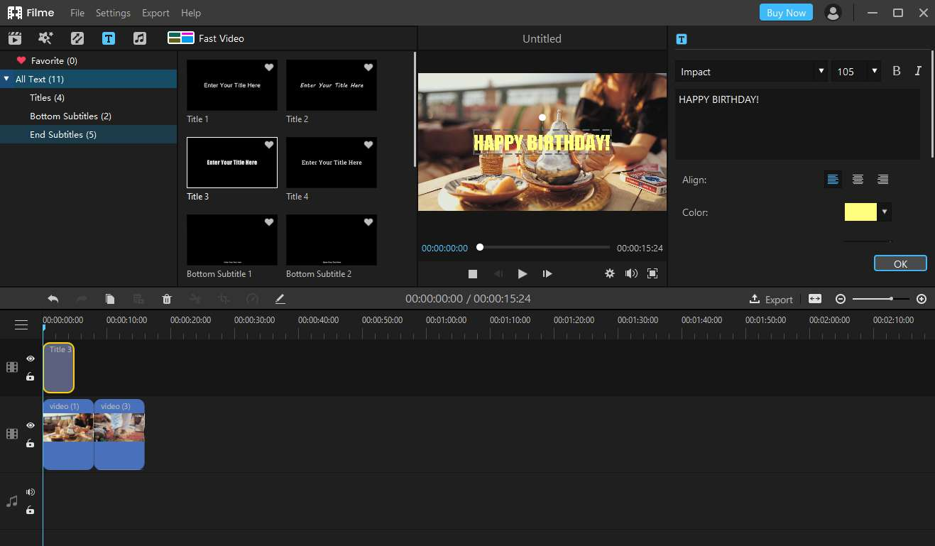 How to Make a Birthday Video or Slideshow with Film