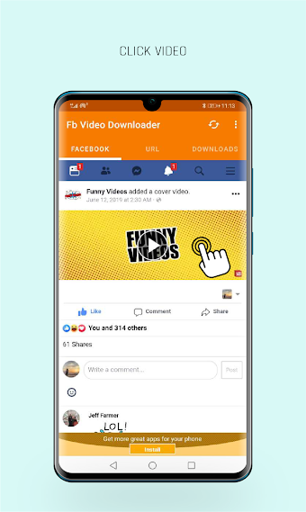 how to save a video from facebook to my android phone