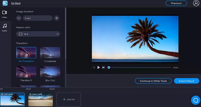 Fastreel Online slideshow maker
