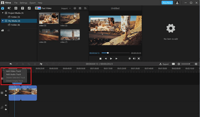 filme add video track