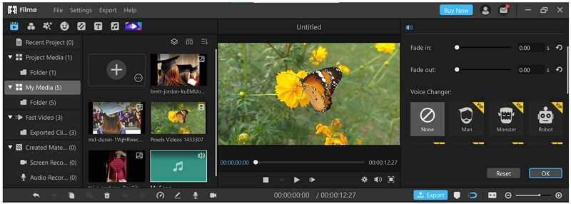 filme audio editing