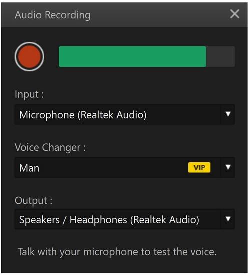filme audio recording and voice change