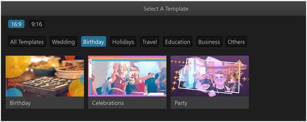 filme birthday templates