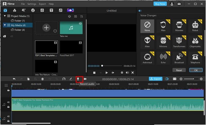 filme change recording voice