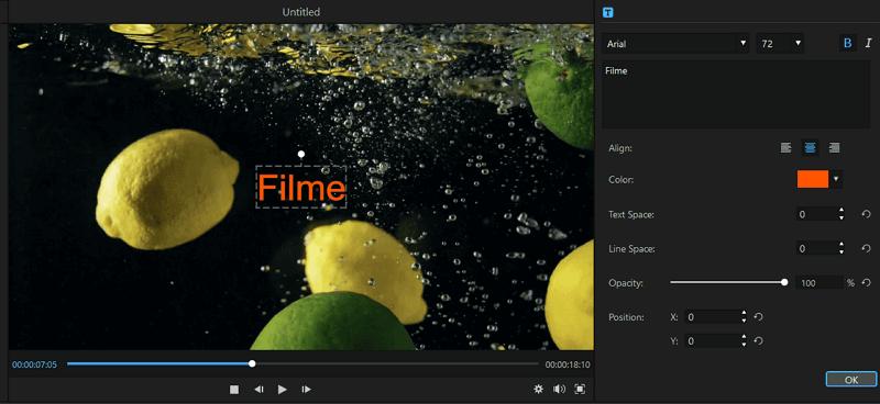 filme edit text