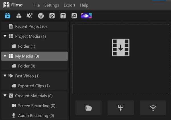 filme import media for vlog