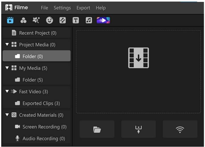filme import options