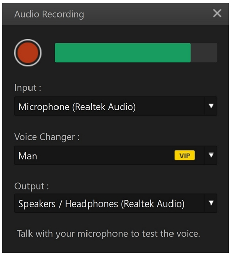 filme record audio
