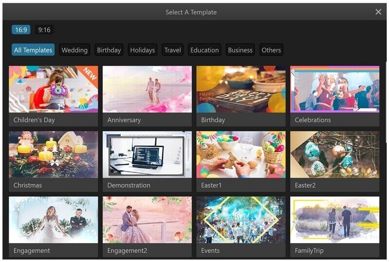 filme slideshow template