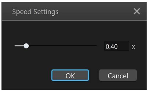filme speed settings