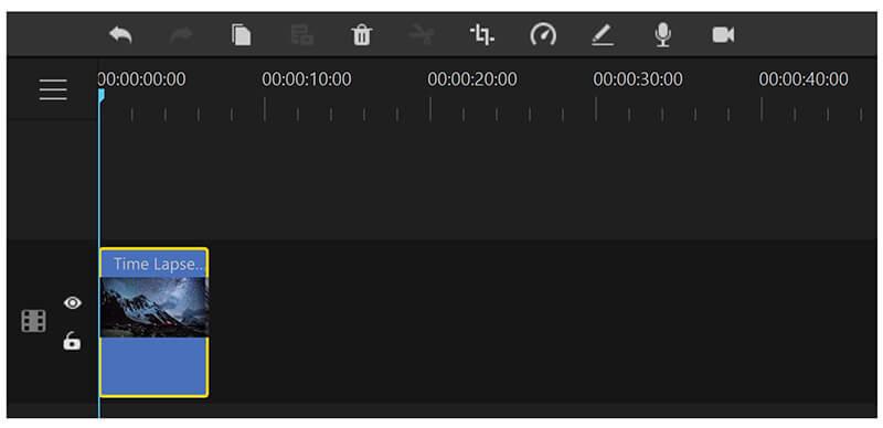 filme timeline toolbar