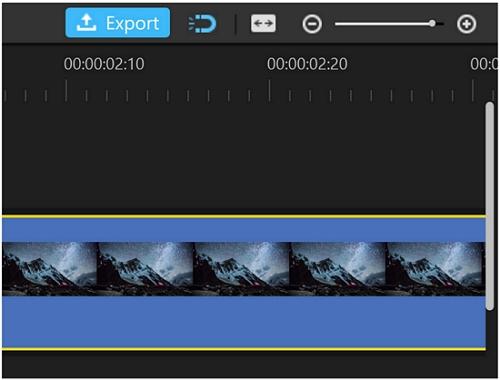 filme zoom in timeline