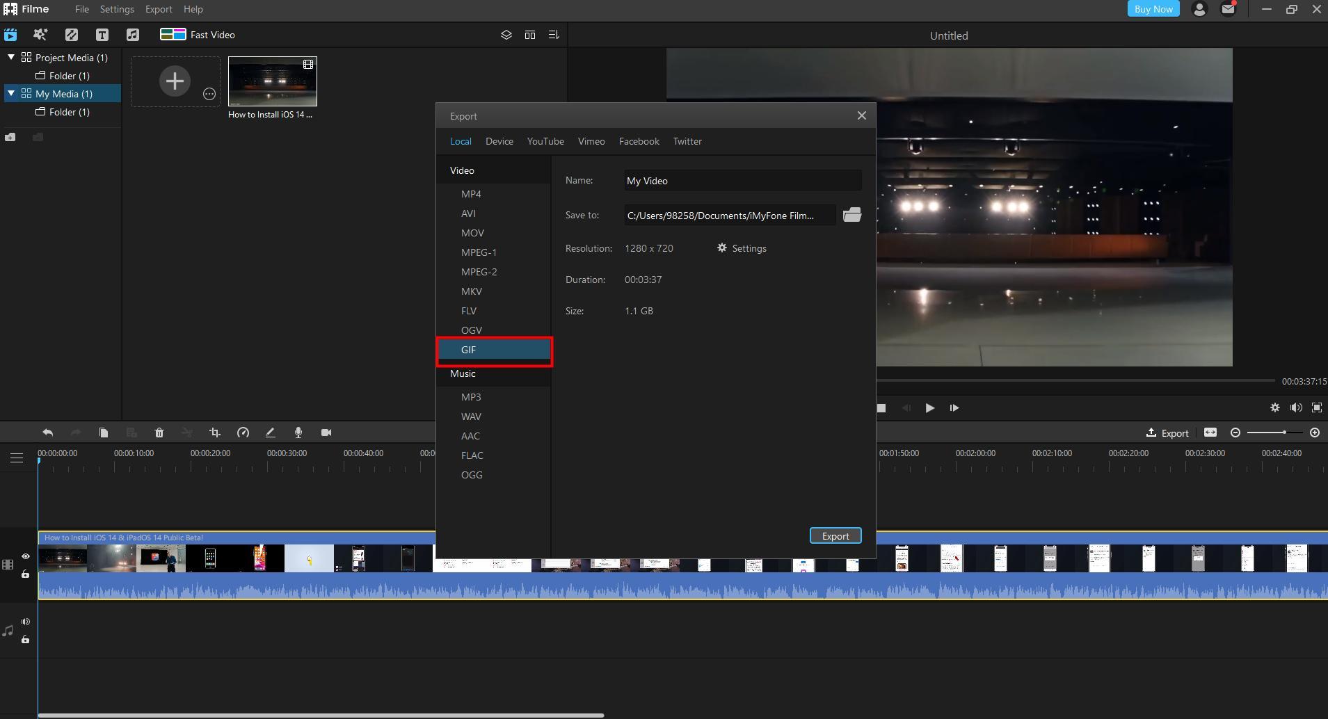 filme convert video to gif