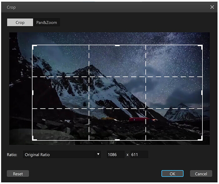 filme cropping tool for igtv