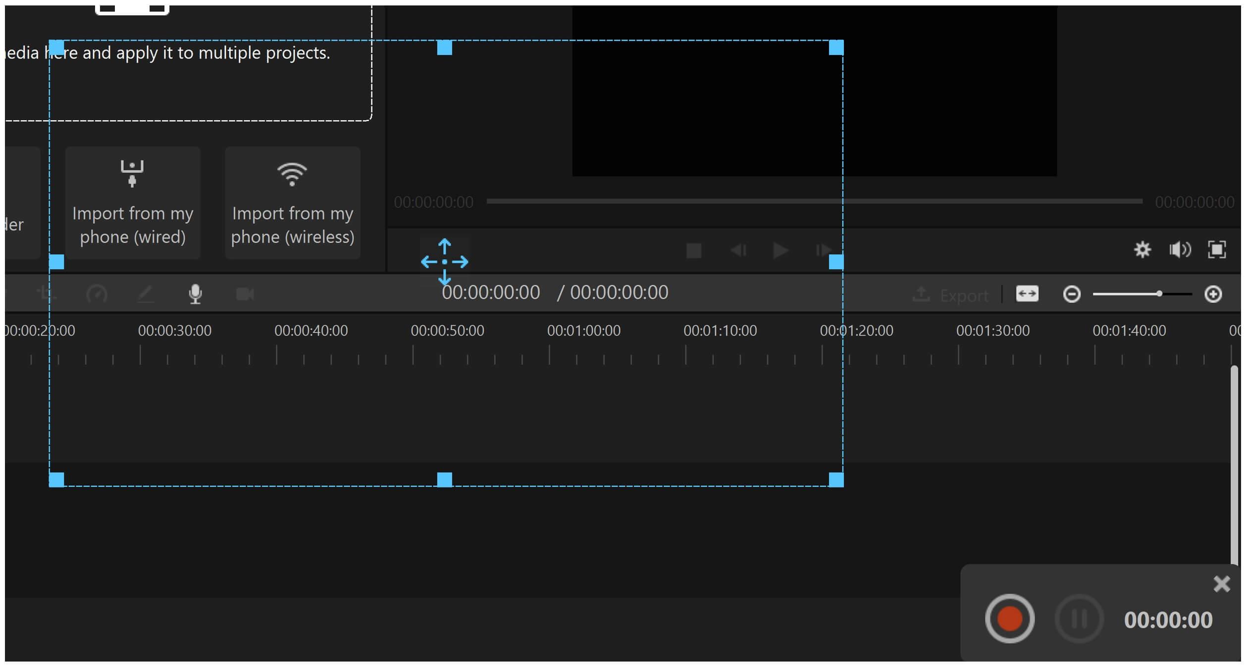 record webcam and screen filme hit screen record button