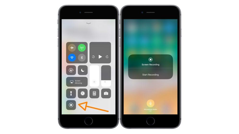 iphone builtin screen recorder